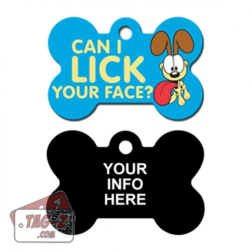 Tag-Z Wag-Z Odie Can I Lick Your Face Pet Tag