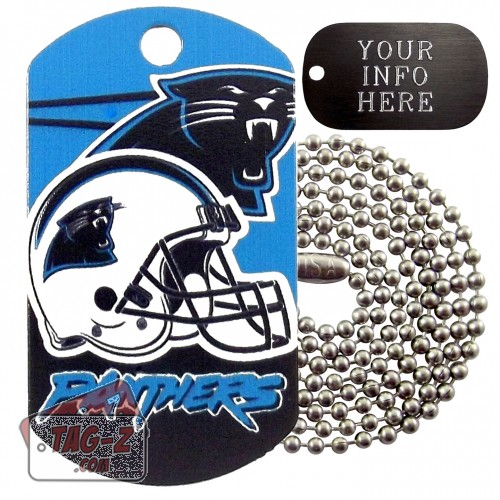 Carolina Panthers NFL Military Dog Tag Necklace
