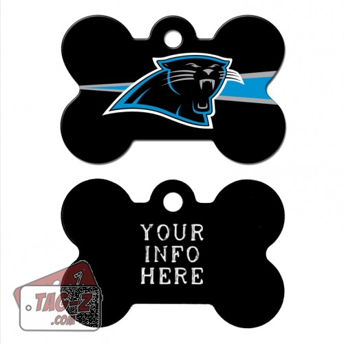 Tag-Z Wag-Z Carolina Panthers NFL Pet Tag