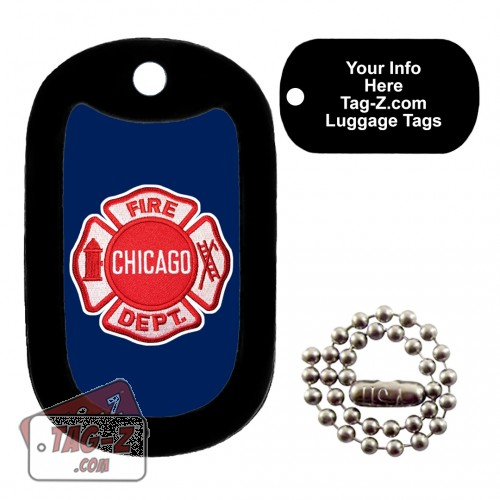 Chicago Firefighter Patch LUGGAGE TAG Tag-Z