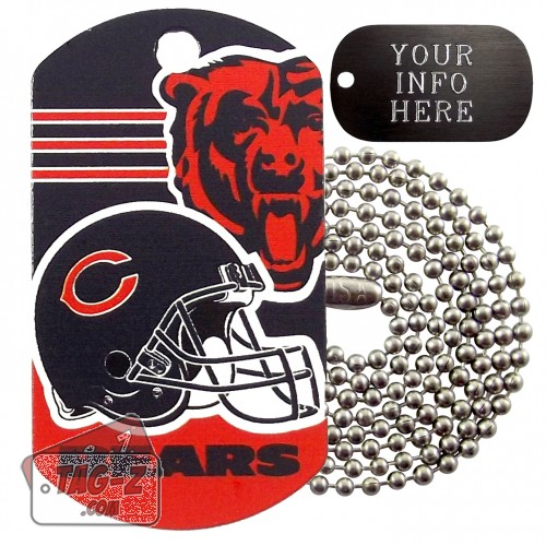 Chicago Bears NFL Military Dog Tag Necklace