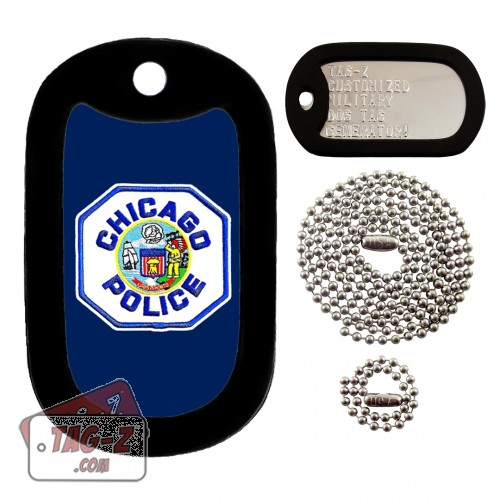 Chicago Police Patch Dog Tag Full Set Tag-Z