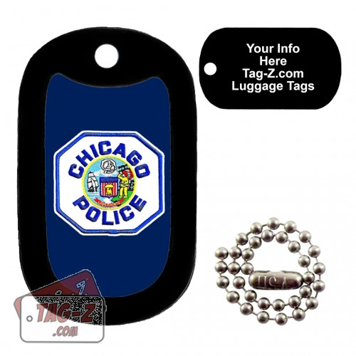 Chicago Police Patch LUGGAGE TAG Tag-Z