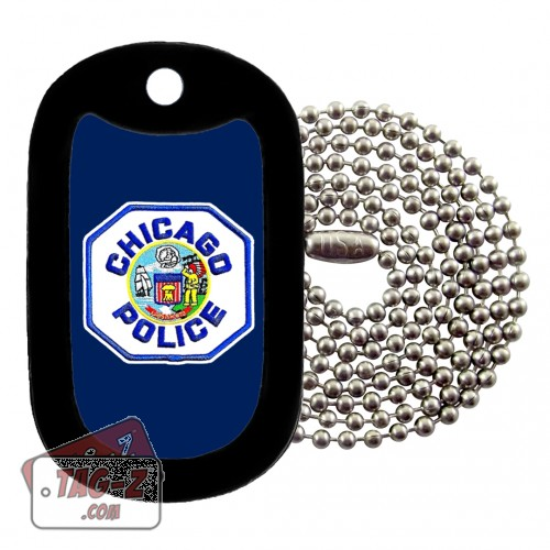 Chicago Police Patch Dog Tag Necklace