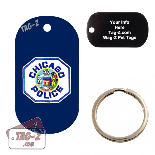 Chicago Police Patch Custom ENGRAVED Pet Tag Tag-Z