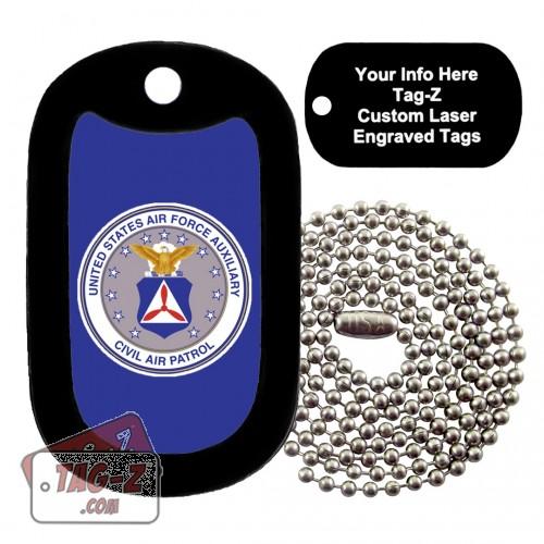 Civil Air Patrol Logo Custom ENGRAVED Necklace Tag-Z