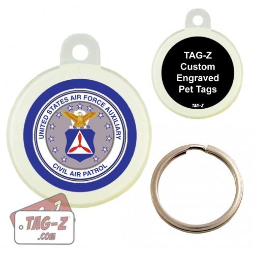 Tag-Z Civil Air Patrol Logo Custom ENGRAVED Pet Tag Circle