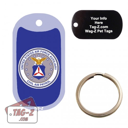 Civil Air Patrol Logo Custom ENGRAVED Pet Tag Tag-Z