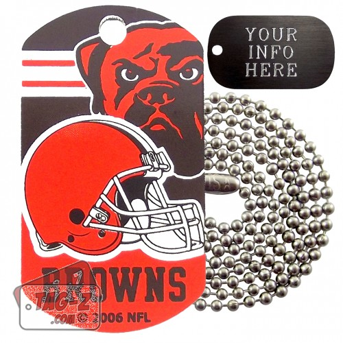 Cleveland Browns NFL Military Dog Tag Necklace