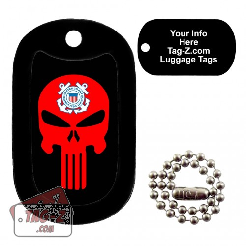 COAST GUARD EVIL SKULL LUGGAGE TAG Tag-Z