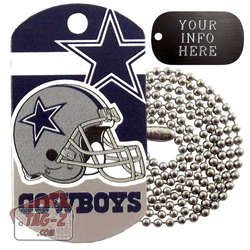 Dallas Cowboys NFL Military Dog Tag Necklace