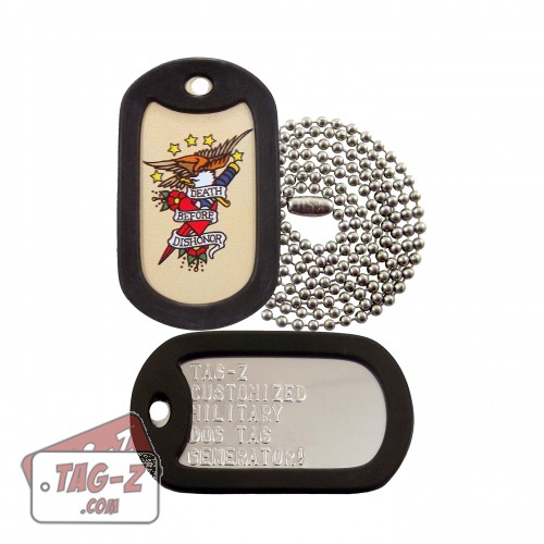 Death Before Dishonor Tagtoo-Z Dog Tag Set