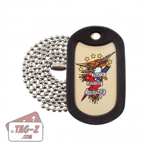 Death Before Dishonor Tagtoo-Z Dog Tag Necklace