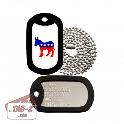 Tag-Z Democratic Party Donkey Dog Tag Set