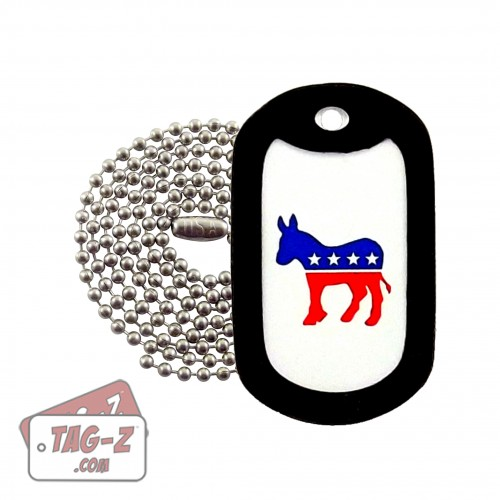 Tag-Z Democratic Party Donkey Dog Tag Necklace