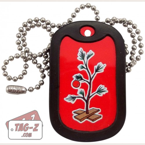 Tag-Z Christmas Tree Dog Tag Necklace