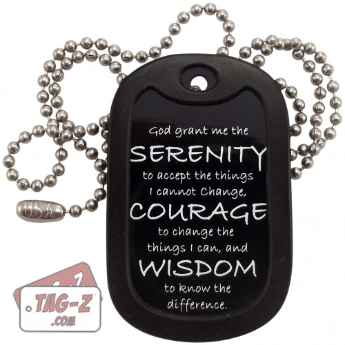 Tag-Z Serenity Prayer Dog Tag Necklace