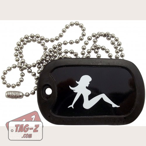 Tag-Z Mud Flap Girl Dog Tag Necklace