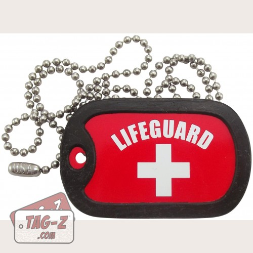 Tag-Z Lifeguard Dog Tag Necklace