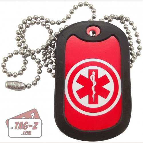 Tag-Z Medical Alert Dog Tag Necklace
