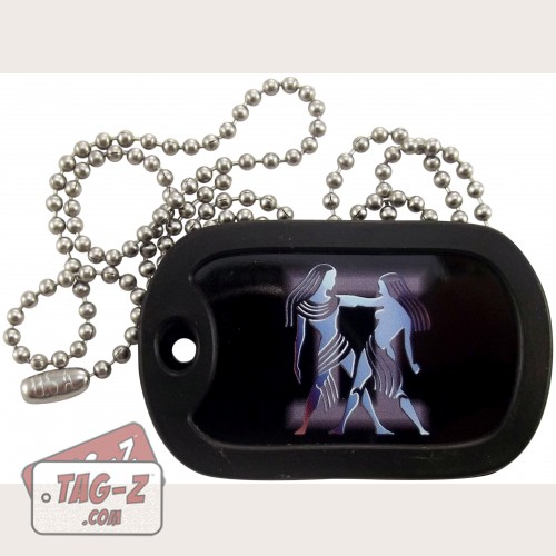 Tag-Z Gemini Dog Tag Necklace