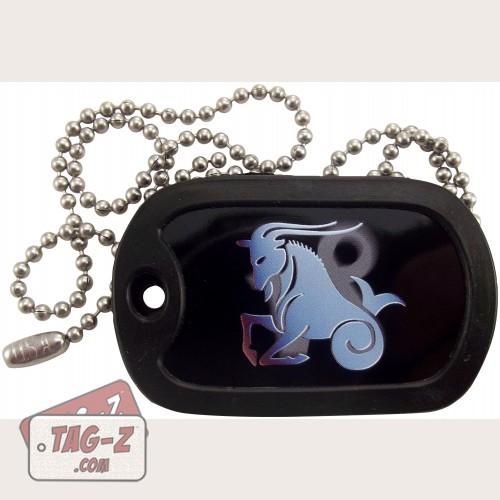 Tag-Z Capricorn Dog Tag Necklace