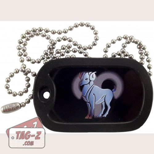 Tag-Z Aries Dog Tag Necklace