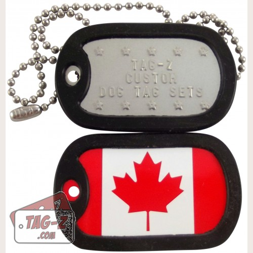 Tag-Z Canadian Flag Dog Tag Set