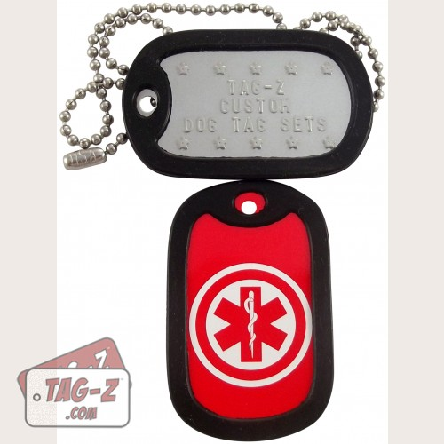 Tag-Z Medical Alert Dog Tag Set