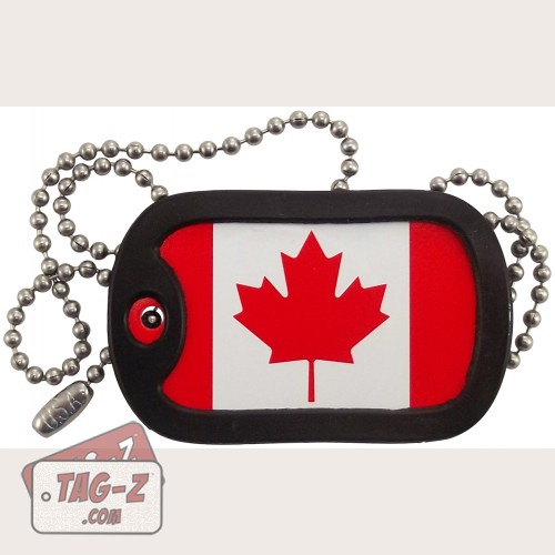Tag-Z Canadian Flag Dog Tag Necklace