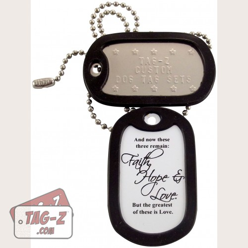 Tag-Z Faith, Hope & Love Dog Tag Set - 1 Corinthians 13:13