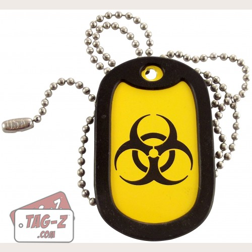Tag-Z Biohazard Dog Tag Necklace