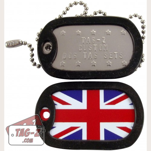 Tag-Z British Flag - Union Jack Dog Tag Set