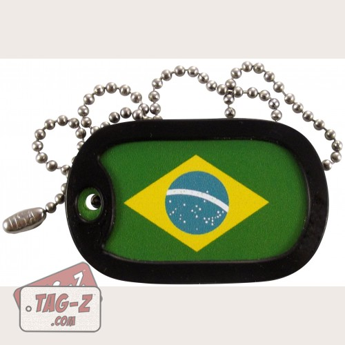 Tag-Z Brazilian Flag Dog Tag Necklace