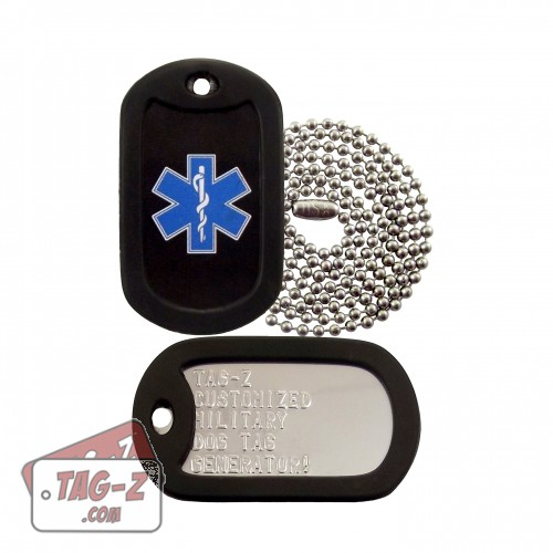 EMT Star of Life Dog Tag Set