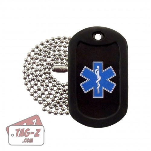 EMT Star of Life Dog Tag Necklace