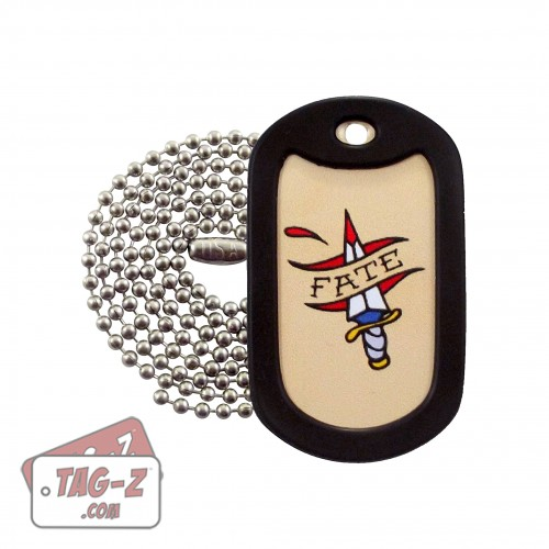 Tag-Z Fate Knife Tagtoo-Z Dog Tag Necklace