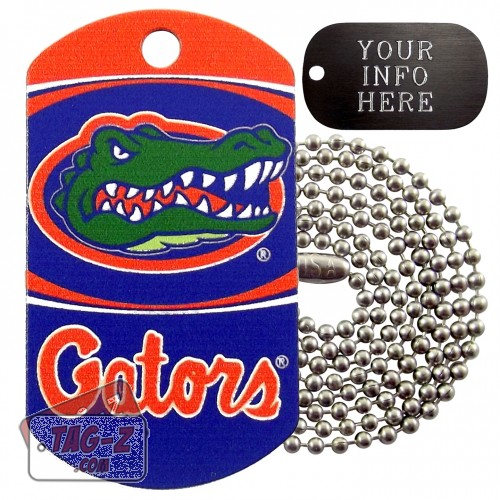Florida Gators NCAA Military Dog Tag Necklace