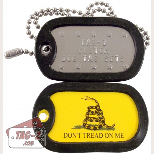 Tag-Z Gadsden Flag Don't Tread On Me Dog Tag Set