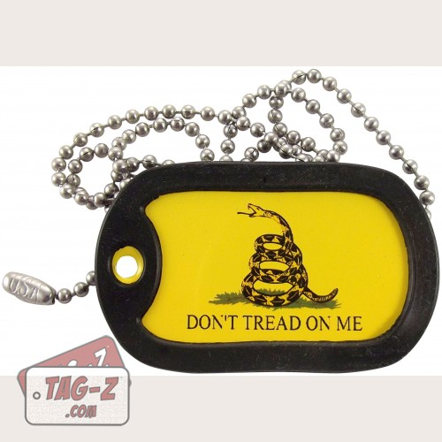 Tag-Z Gadsden Flag Don't Tread On Me Dog Tag Necklace