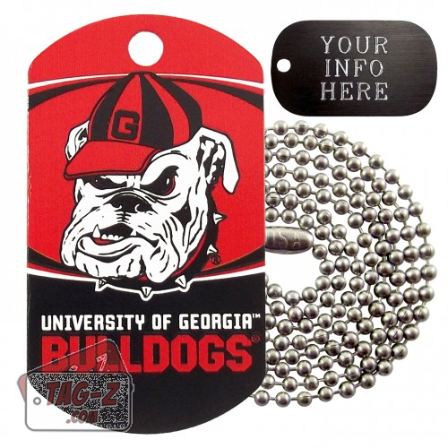 Georgia Bulldogs NCAA Military Dog Tag Necklace