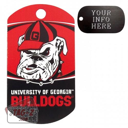 Georgia Bulldogs NCAA Pet Tag