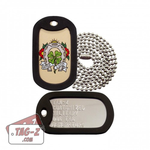 Good Luck Horseshoe Tagtoo-Z Dog Tag Set