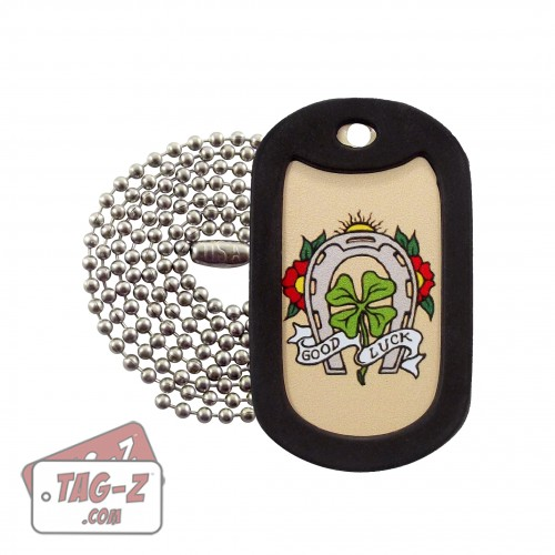Tag-Z Good Luck Horseshoe Tagtoo-Z Dog Tag Necklace