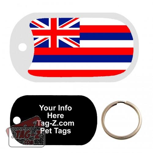 HAWAII FLAG Custom ENGRAVED Pet Tag Tag-Z