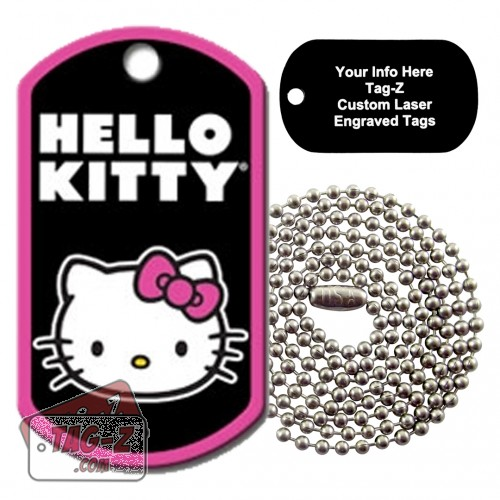 Hello Kitty Custom ENGRAVED Tag Necklace