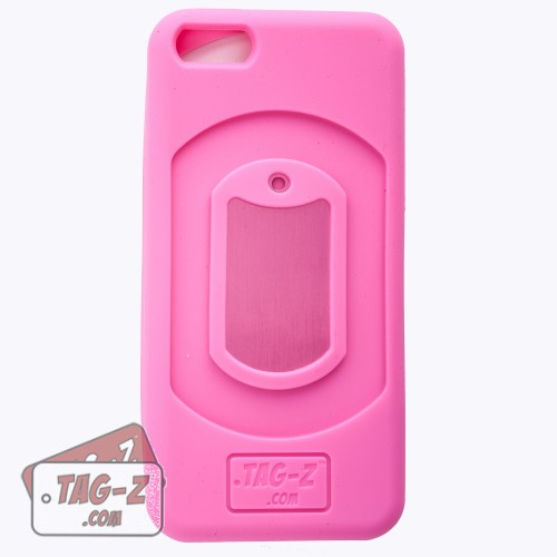 Tag-Z Customized Military Dog Tag iPhone 5 Case - Hot Pink Cover