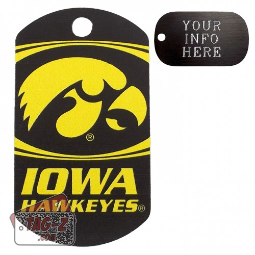 Iowa Hawkeyes NCAA Pet Tag