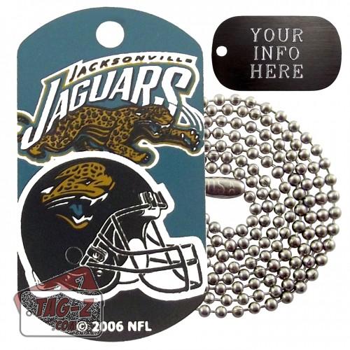 Jacksonville Jaguars NFL Military Dog Tag Necklace