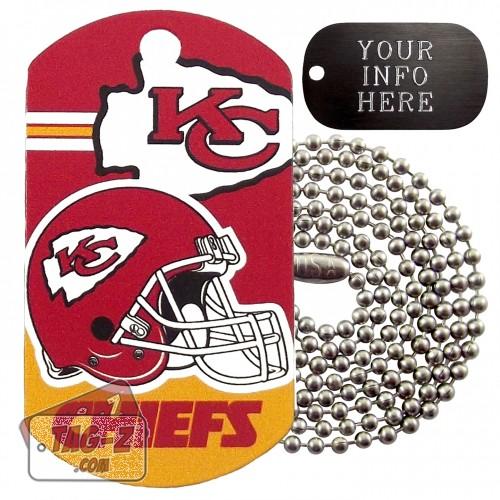 Kansas City Chiefs NFL Military Dog Tag Necklace
